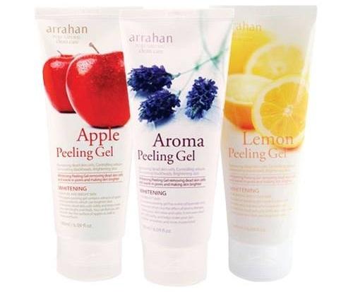 Tẩy da chết Arrahan Whitening Peeling Gel dạng gel được chiết xuất từ các loại hoa quả