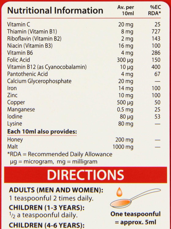 Thành phần của Thuốc bổ sung sắt Feroglobin B12