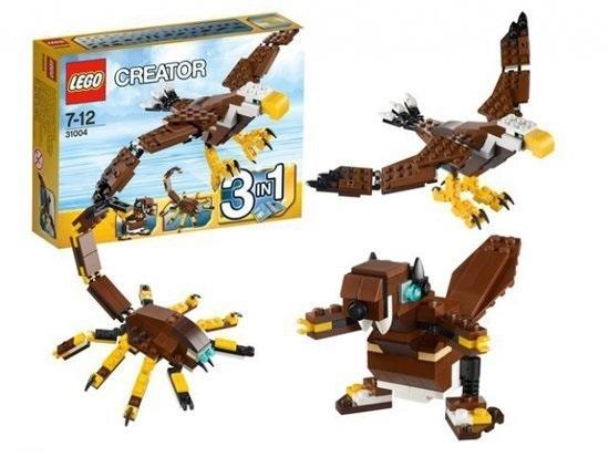 Bộ đồ chơi xếp hình Lego có 166 chi tiết có thể xếp được 3 hình tượng cực đẹp: hải ly, bọ cạp và đại bàng