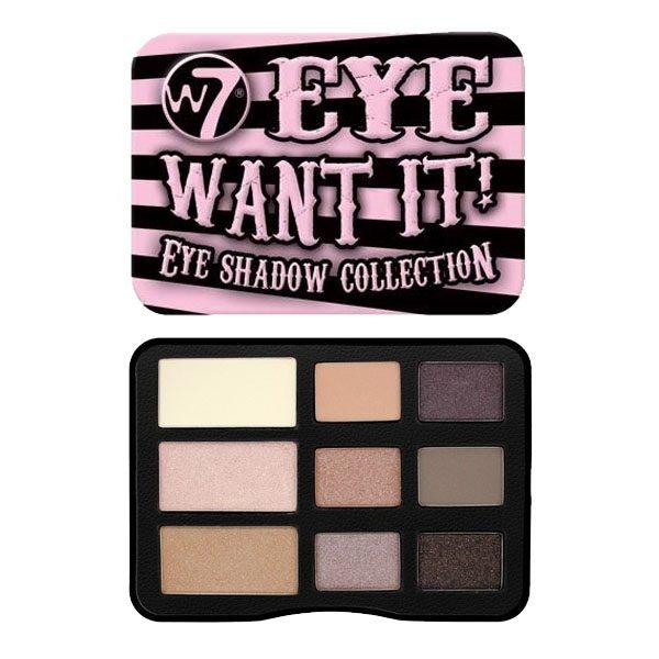 Bảng phấn mắt W7 Eye Want It Eye Shadow Collection thiết kế tông hồng nữ tính,