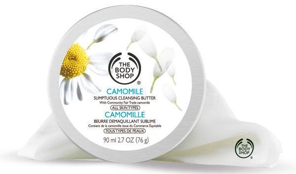 Sáp tẩy trang The Body Shop Camomile Sumptuous Cleansing Butter chứa thành phần tinh chất hoa Cúc La Mã