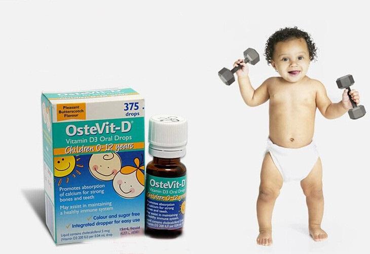 Vitamin D3 Ostevit giúp cho hệ xương và răng của bé thêm chắc khỏe