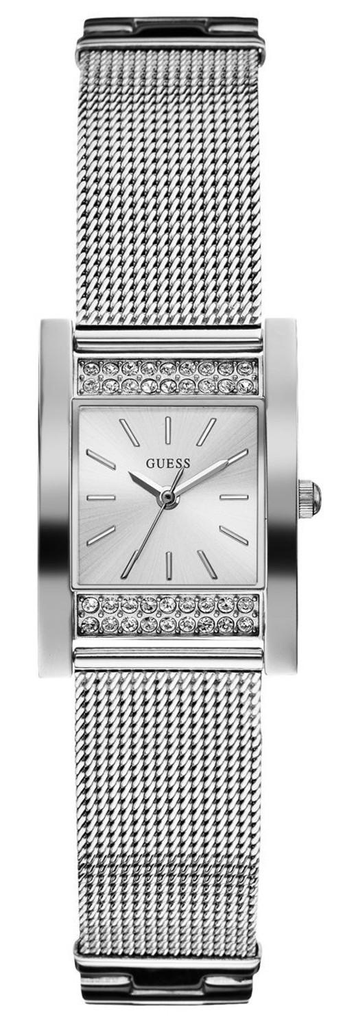 Case đồng hồ độc đáo với hình chữ nhật, thiết kế đơn giản được điểm xuyết bởi những viên đá lấp lánh