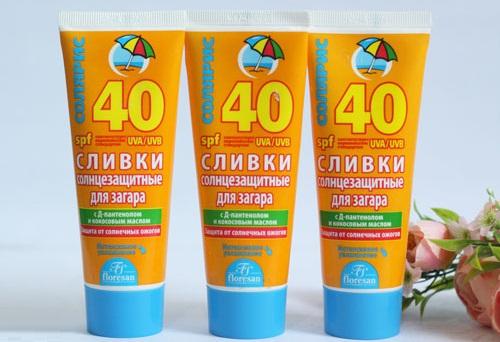 Công thức kem chống nắng không thấm nước cung cấp đặc tính bảo quản khi tiếp xúc với nước