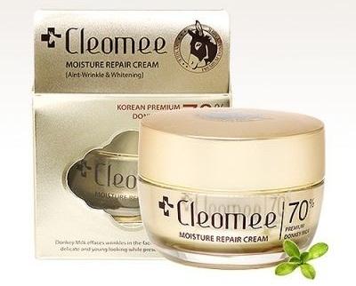 Kem Cleomee Moisture Repair Cream với chiết xuất sữa lừa tự nhiên giúp dưỡng da tối ưu