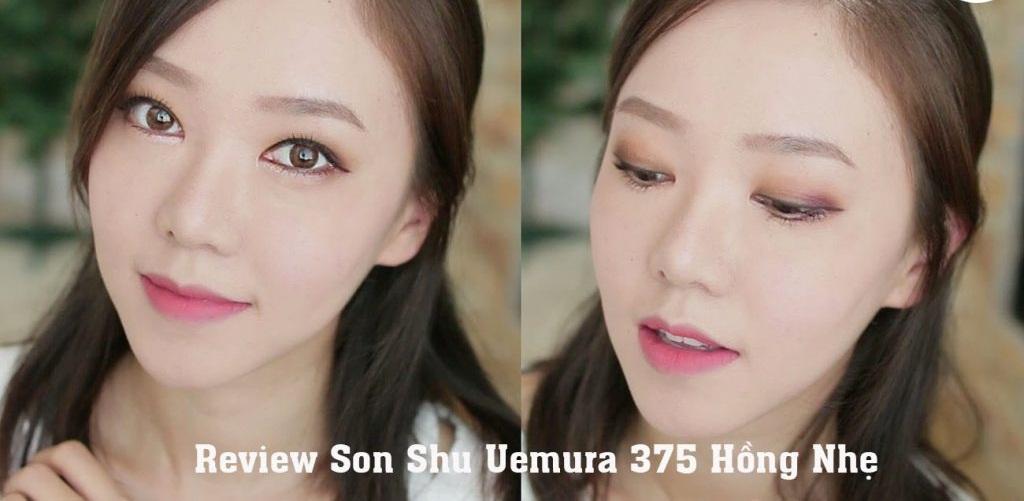 Son Shu Uemura 375 tông hồng mận nhẹ nhàng, mới lạ