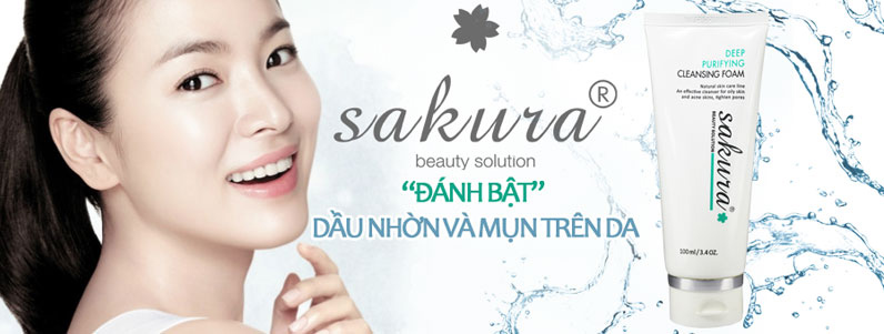 Sữa rửa mặt cho da dầu mụn Sakura Deep Purifying thế hệ mới 4