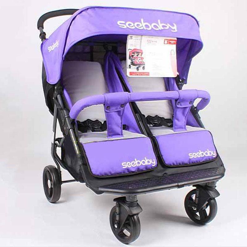 Xe đẩy cho bé sinh đôi Seebaby tiện dụng cho mẹ
