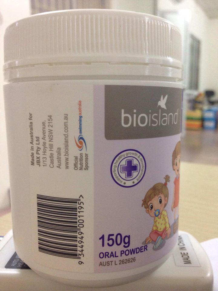 Bio Island Lysine starter for kid có dạng bột tiêu giúp tiêu hóa dễ dàng hơn