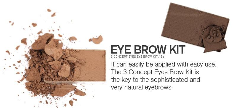 Bột tán mày 3CE Concept Eyes Brow Kit là bột tán mày với cấu trúc bột mịn, độ bám cao, màu sắc tự nhiên và dễ sử dụng mang lại cho bạn cặp lông mày đầy, đều đặn
