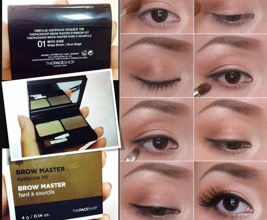 Bột tán mày The Face Shop Brow Master Eyebrow Kit 2