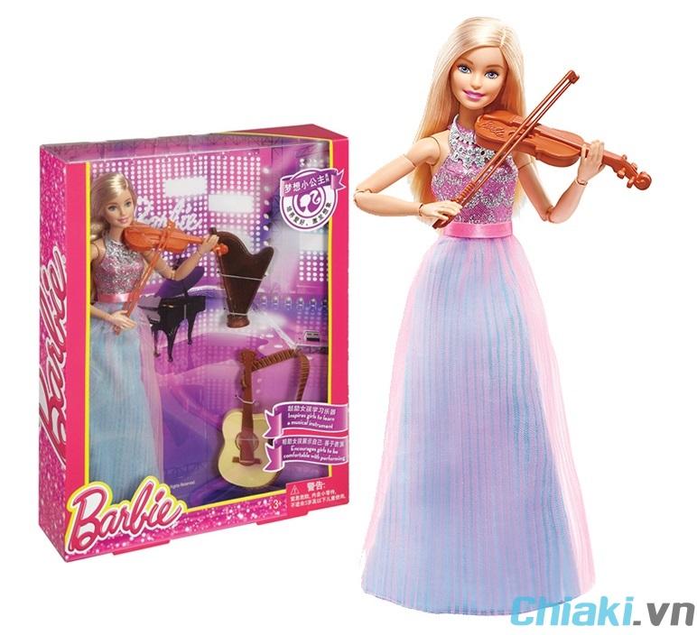 Búp bê Barbie có khớp Violong DLG94 với 3 nhạc cụ mô phỏng rất trang trọng