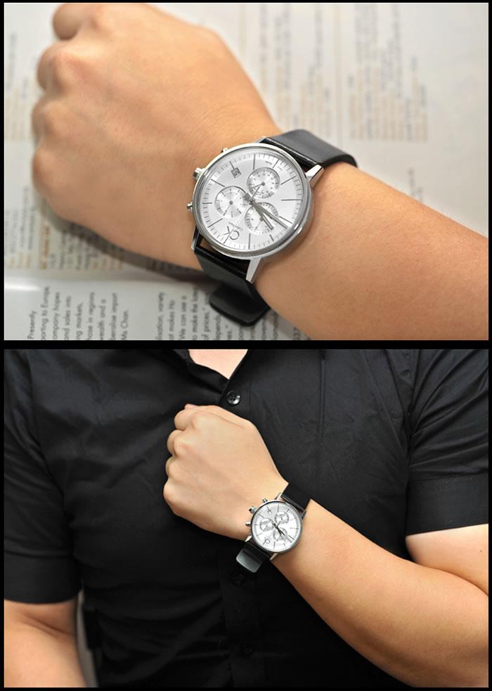 Chiếc đồng hồ CK nam K7627120 trên tay nam tính lịch lãm