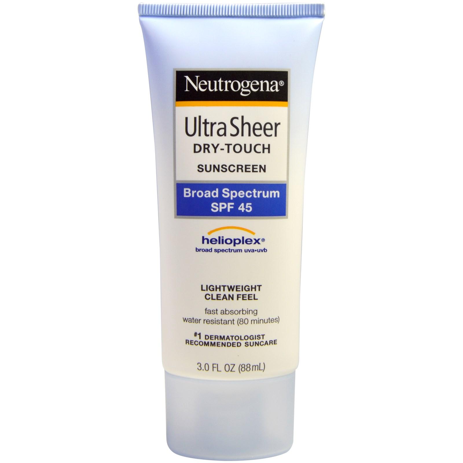 Kem chống nắng Ultra Sheer Dry touch Neutrogena Broad Spectrum SPF45 88 ml