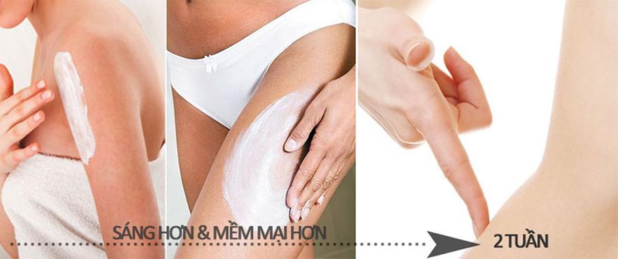 Kem tắm trắng toàn thân Sakura Pearl Silk Rich Special Whitening Cream làm bật tông màu da tốt nhất