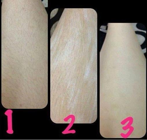 Đối với những vùng da có lông nhiều thì các bạn nên thoa lượng kem dày hơn một chút