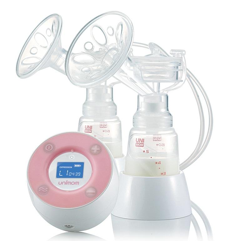 Máy hút sữa Unimom Minuet bằng điện đôi không có BPA