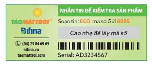 Tem chống hàng giả mới nhất 2017 của tảo mặt trời - chiaki.vn