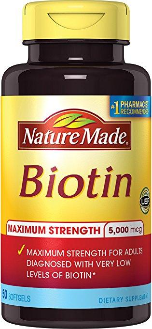 Viên uống mọc tóc Nature Made Biotin 500mcg