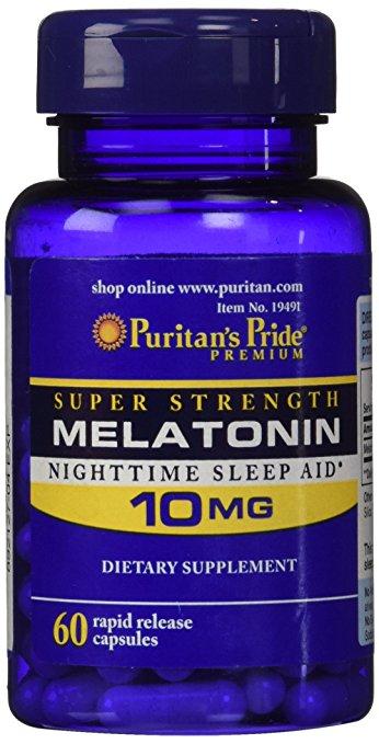 Viên uống trị mất ngủ Puritan's Pride Melatonin 10mg 60 viên