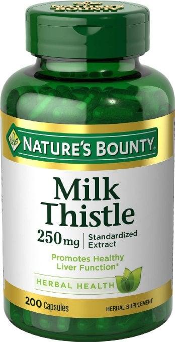 Viên uống giải độc gan Nature's Bounty Milk Thistle 250mg hộp 200 viên
