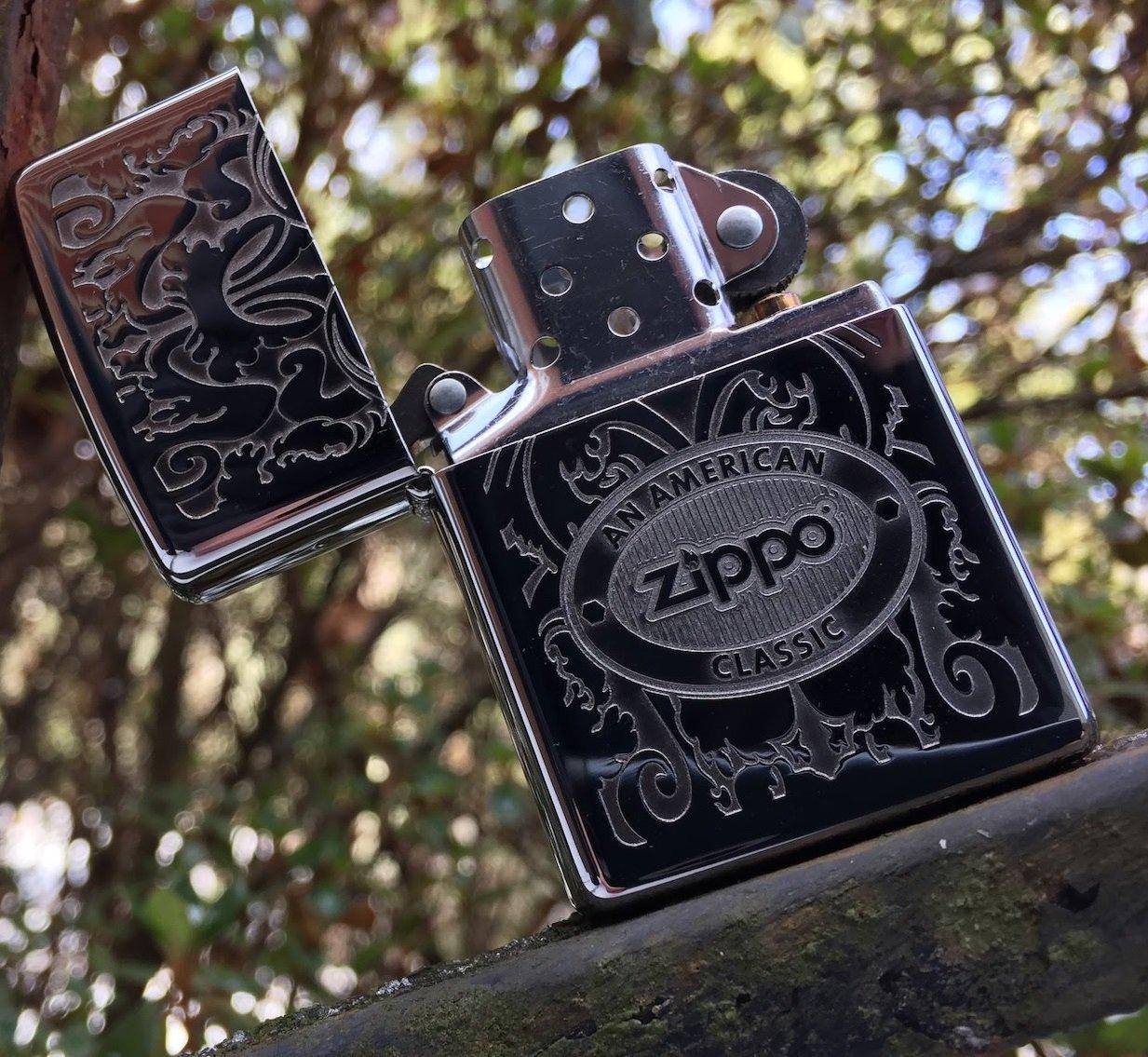 Bật lửa Zippo 24751 Crown Stamp with American Classic Lighter chính hãng giá rẻ