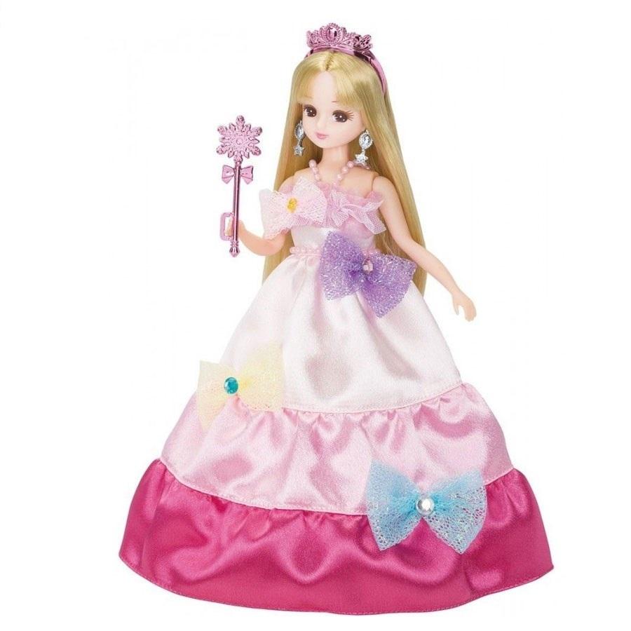 Búp bê Licca công chúa sắc màu nổi bật trong bộ đầm công chúa bằng lụa satin mượt mà
