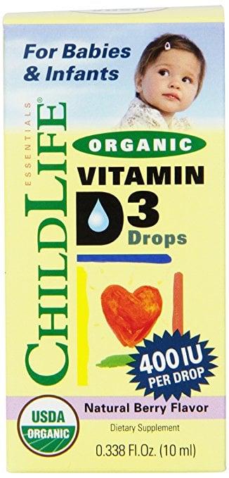 Childlife vitamin D3 organic 400IU dạng nước 10ml