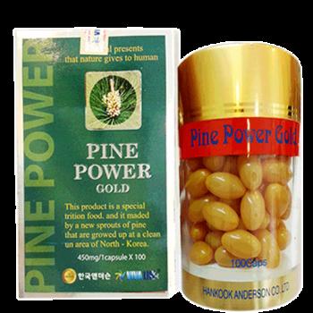 Tinh dầu thông đỏ hàn quốc Pine Power Gold hộp 100 viên