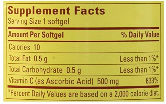 Vitamin C Nature Made 500mg của Mỹ hộp 180 viên