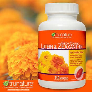 Viên bổ mắt Trunature Lutein & Zeaxanthin 140 viên của Mỹ
