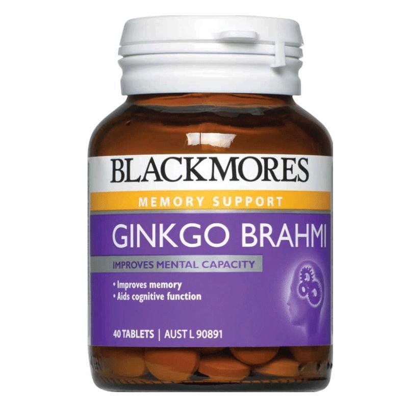 Hoạt huyết dưỡng não chữa rối loạn tiền đình Blackmores Ginkgo Brahmi 40 viên