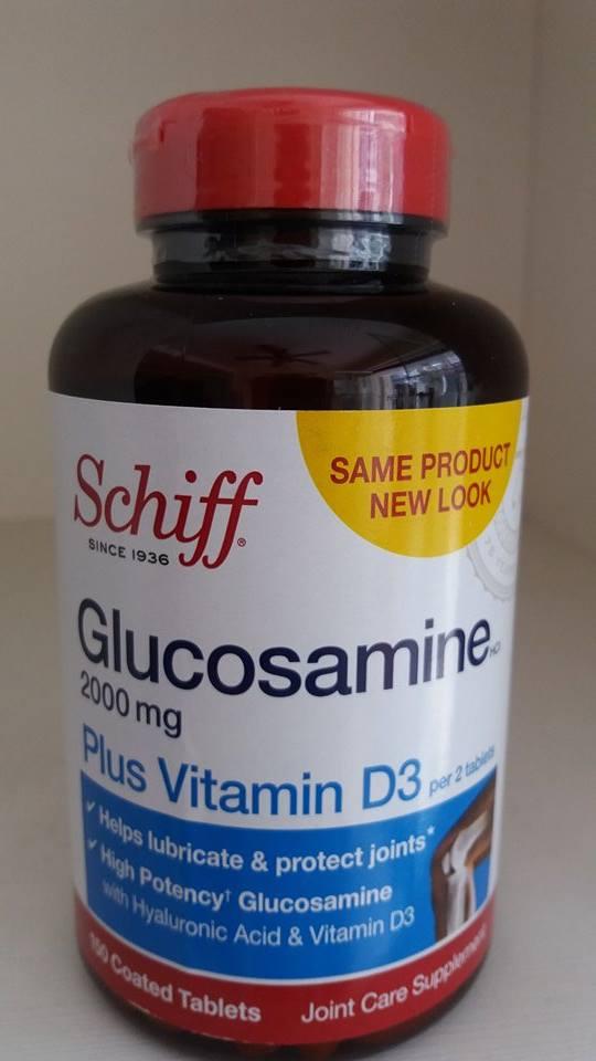 Viên bổ xương khớp Glucosamine 2000mg plus vitamin d3 Schiff 150 viên