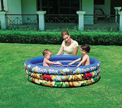 Bể bơi phao 3 tầng Angry Birds giúp trẻ tắm mát an toàn ngay tại nhà