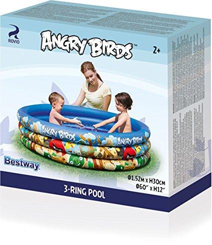 Bể bơi phao 3 tầng Angry Birds Bestway được đựng trong chiếc hộp nhỏ gọn