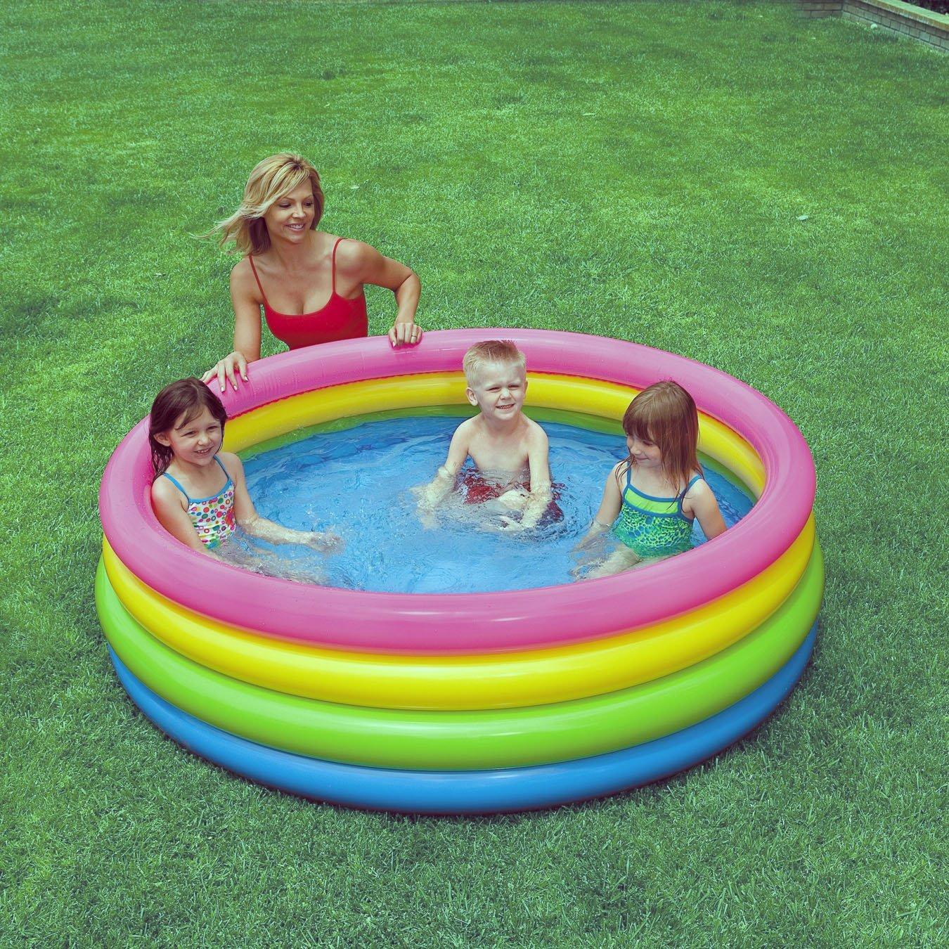 Bể bơi phao Intex 56441 thiết kế 4 tầng, chất liệu dày dặn, bền đẹp