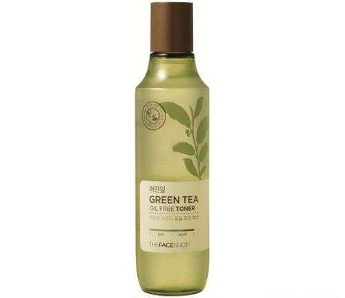 Nước Hoa Hồng Trà Xanh Green Tea Oil Free The Face Shop