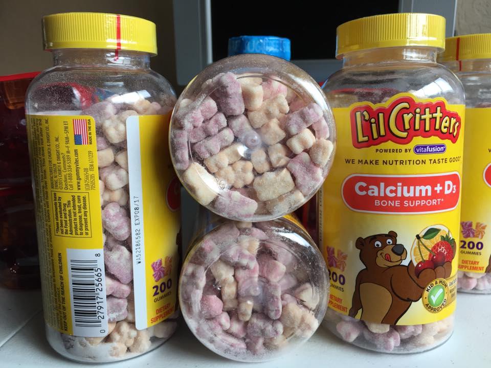 Kẹo dẻo L'il Critters bổ sung Canxi và Vitamin D3