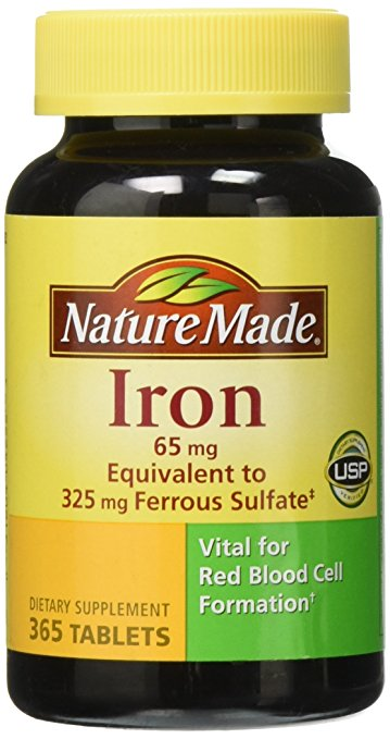 Viên uống bổ sung sắt Nature Made Iron 65mg (365 viên)