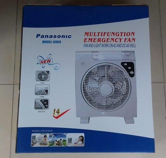 Quạt tích điện Panasonic 2 acquy 6969 2