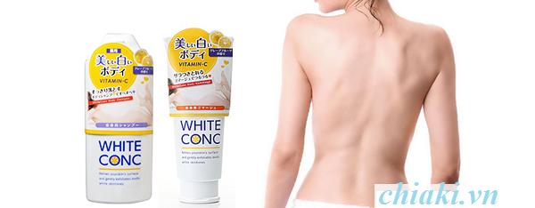 Nên sử dụng kết hợp với sữa tắm trắng da White Conc để đạt hiệu quả tối đa