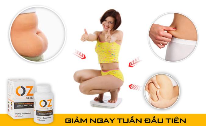 Viên uống giảm cân OZ Slim giúp giảm tối đa tình trạng tăng cân trở lại