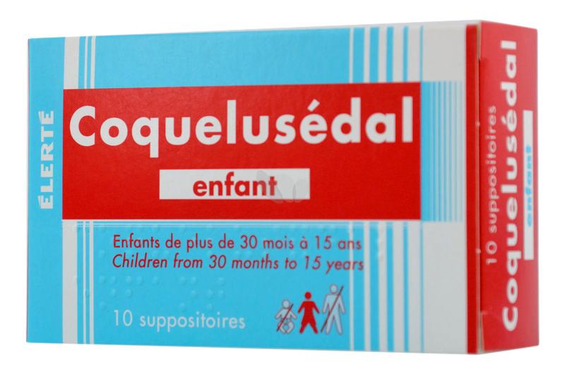 Thuốc ho đặt hậu môn Coquelusedal cho bé từ 30 tháng tới 15 tuổi