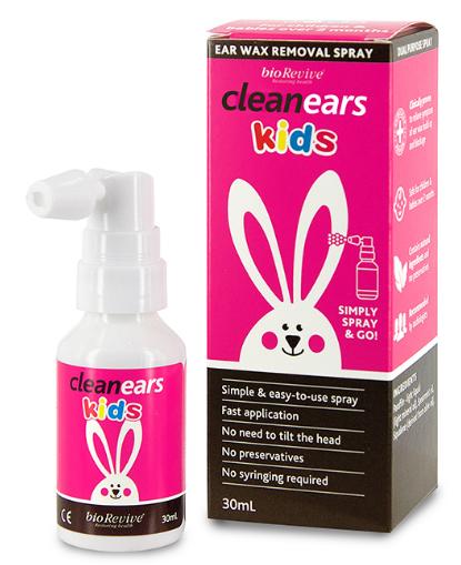 Xịt tan ráy tai Clean Ears Kids 30ml của Úc