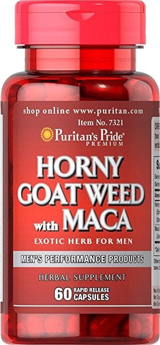 Viên uống tăng cường sinh lý nam Horny Goat Weed With Maca  Puritan's Pride