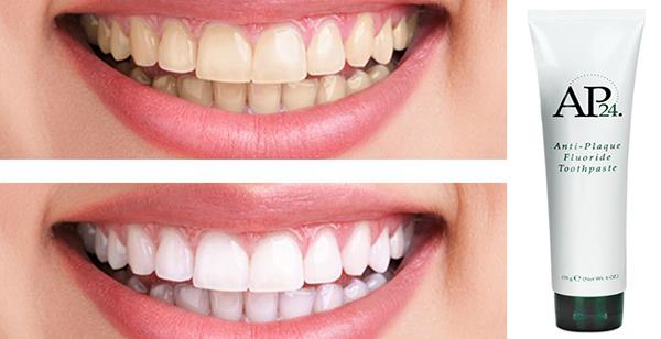 Kem đánh răng AP24 loại bỏ các mảm bám trên răng, giúp răng sạch và sáng bóng