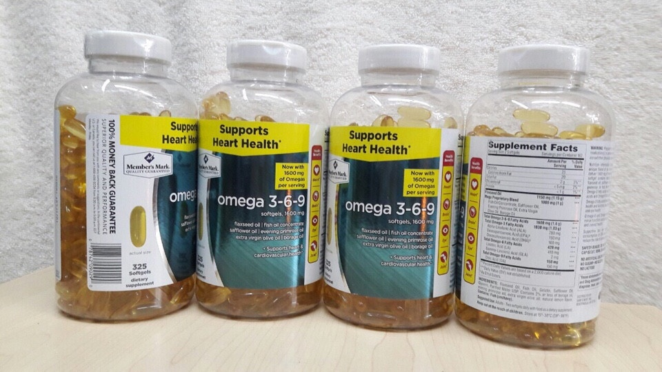 Omega 3 6 9 Member's Mark Supports Heart Health Của Mỹ Hộp 325 Viên