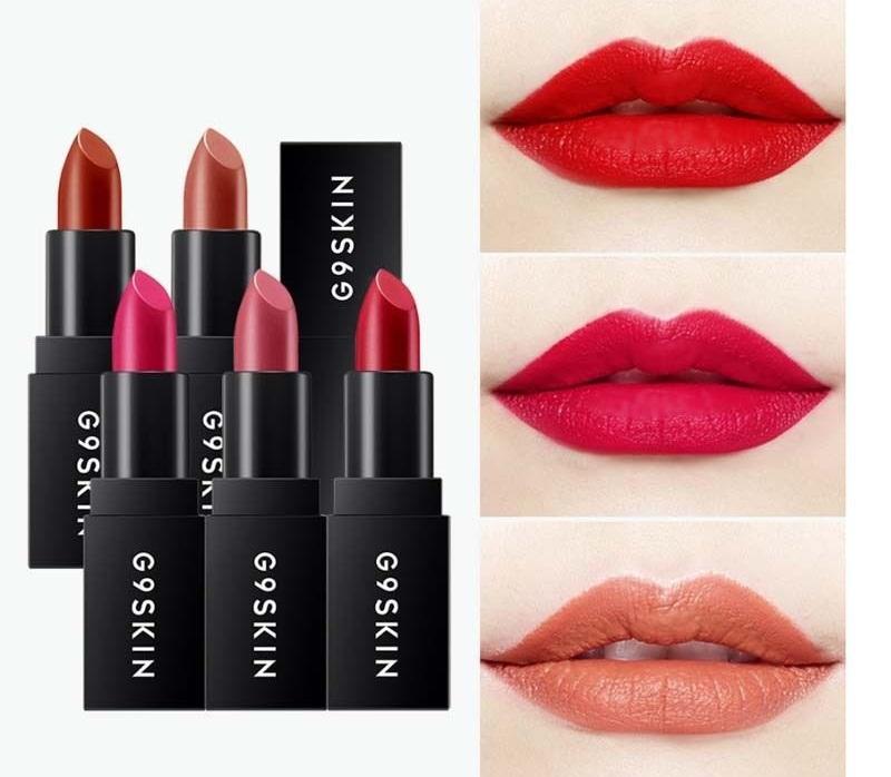 Son thỏi G9Skin First Lipstick với bảng son 5 màu thời trang cực kì ấn tượng