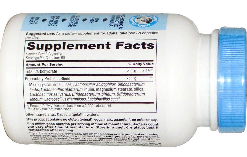 Nhãn sản phẩm viên uống hỗ trợ tiêu hóa Nutrition Now PB 8 Probiotic