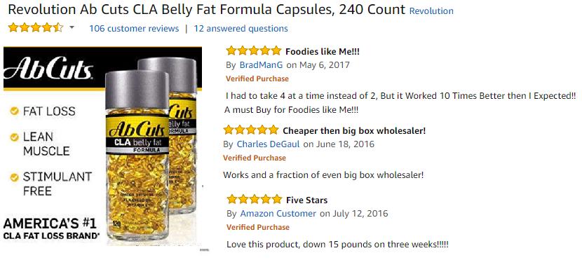 Combo 2 hộp ABCuts CLA Belly Fat Formula (120 viên x 2) 2